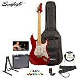 Sawtooth ST-ES-CARP-KIT-3 Candy Apple Red Electric Guitar with Pearl White Pickguard – Includes Accessories, Amp, Gig Bag and Online Lesson thumbnail