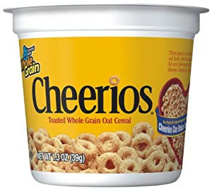 Cheerios Cereal Cup, 1.3 Ounce (Pack of 12)