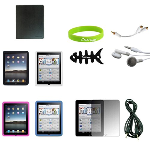 CrazyOnDigital 15 Items Accessory Kit for Apple iPad