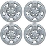 "Set of 4 Chrome 16"" Wheel Skin Hub Covers: 2005- 2014 Toyota Tacoma (Access + Dbl Cab) 16x7 Inch 6 Lug Steel Rim -aftermarket: IMP/68X"