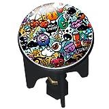 Acquista Wenko, Tappo per lavandino 20751100 Pluggy Graffiti Abfluss Stopfen Messing Kunststoff Durchmesser 39 x 65-95 cm, Multicolore (Mehrfarbig)