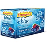 Emergen-C Health and Energy Booster Triple Berry, Blue, 30-Count, 8.9-Ounce Packets