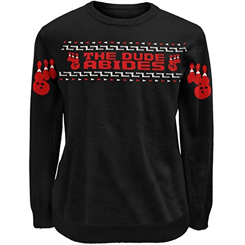 The Big Lebowski - Mens Dude Abides Sweater Medium Black