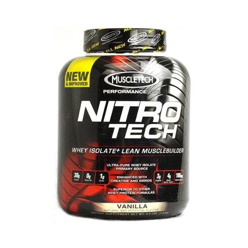 Muscletech products nitro tech performance series whey isolate vanilla 4 lbs health help - Nitro tech isolate ...