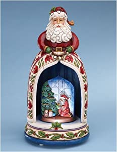 Jim Shore Santa Lighted Musical Figurine And To All A Good Night