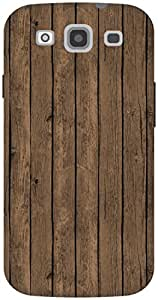 The Racoon Lean Brown Painted Wood hard plastic printed back case / cover for Samsung Galaxy S3