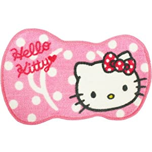 [Hello Kitty]Mini cream matte pink polka dot Ribbon