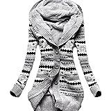 Minetom Femme Hiver Toison Tricoté Bouton Pulls Vêtements Cardigan Tunique Sweats à capuche Tricots Manteaux