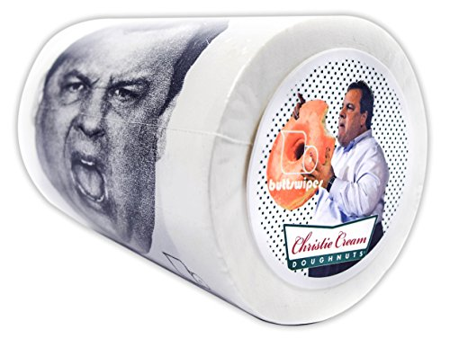 Buttswipes CHRIS CHRISTIE Toilet Paper Funny Gag Gift Stocking Stuffer (Christie Cream)