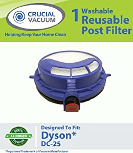 Crucial Vacuum Post HEPA Filter fits Dyson DC25 Vacuum Cleaner; Washable & Reusable; Replaces Dyson DC25 Filter Part # 916188-05, 91618805, 916 at Sears.com