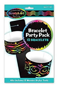 Melissa & Doug Bracelet Scratch Art Party Pack from Melissa & Doug