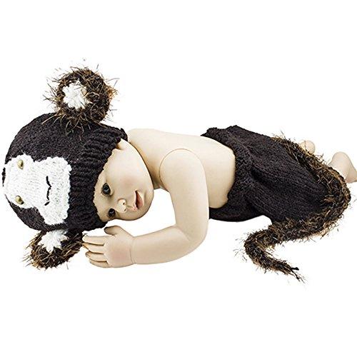 Foto-shooting Meerjungfrau Kostüm Strick Kleid Baby Kinder Häkeln (10)