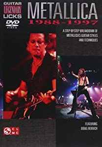 Metallica: Guitar Legendary Licks 1988-1997 [Import]
