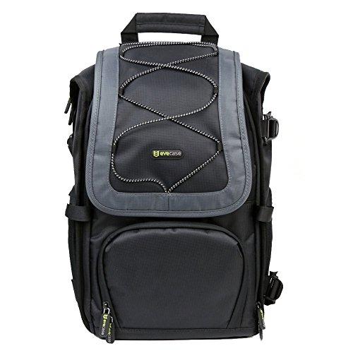 Evecase Professional Dslr Camera Backpack Case For Nikon D610, D750, D7100, D7000, D5300, D5200, D5100, D5000, D3300, D3200, D3100, D3000, D810, D800, D700, D600, D300S, D300, D200, D90, D80, D60, D40, D4S Slr Digital Cameras