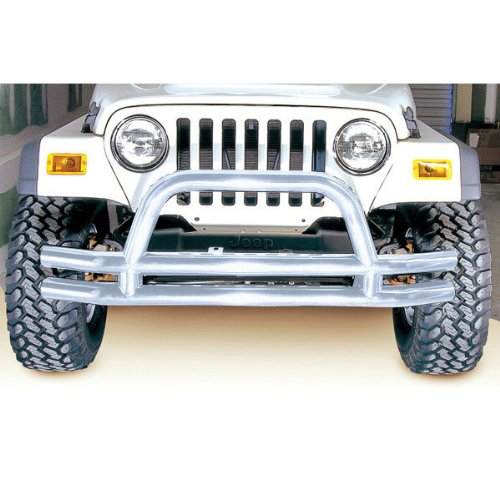 Rugged Ridge Stainless Steel Front Tube Bumper with Grill Guard