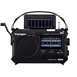 Kaito Electronics Inc. KA500BLK Voyager Solar/Dynamo Emergency Radio - Black