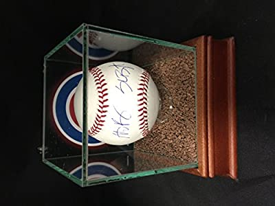 Kris Bryant & Anthony RIzzo Dual Autographed Signed Chicago Cubs MLB Baseball With Game Used Dirt Display Case Included COA & Hologram