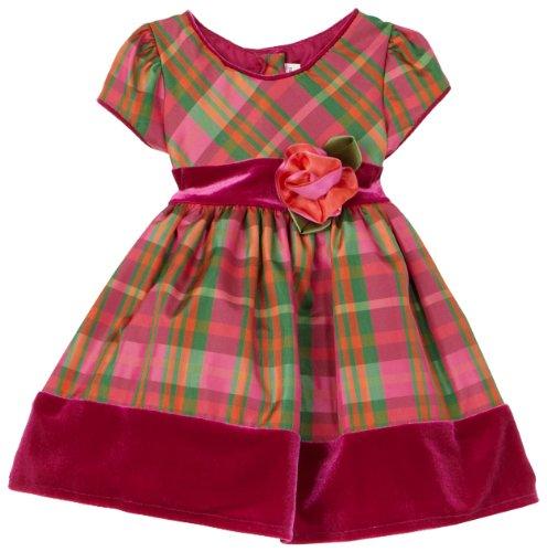 Sweet Heart Rose Short Sleeve Dressy Dress, Pink Multi, 12 Months