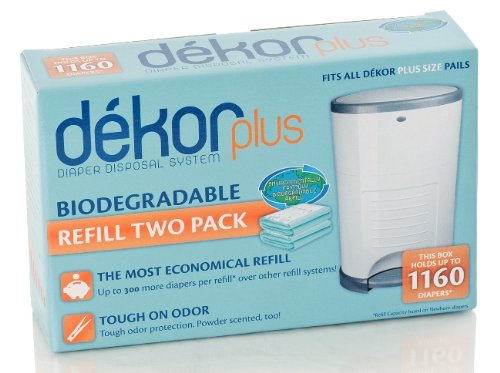 Diaper Dekor Plus Biodegradable Refill (2 Per Box) - 5 Boxes front-554820