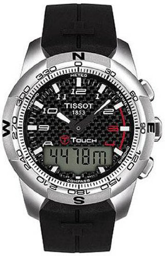 TISSOT T-TOUCH T047.420.47.207.00 GENTS TITANIUM CASE CHRONOGRAPH DATE WATCH
