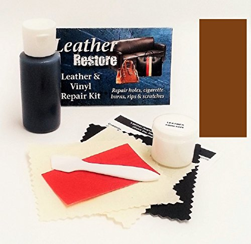 Leather Repair Kit with READY TO USE Color, CHOCOLATE (Pleather Repair Kits For Couches compare prices)