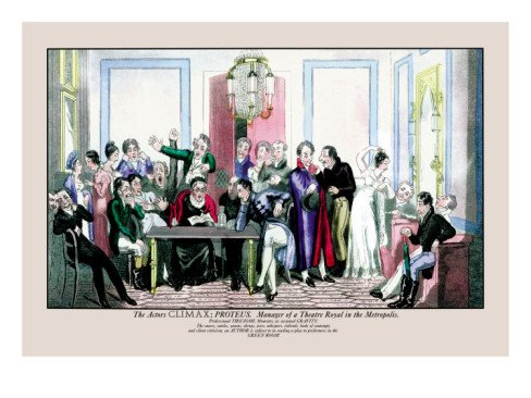 The Actor's Climax: Proteus as Manager of a Theatre Royal in the Metropolis Wall Decal 24 x 18 in (Without border: 22 x 15 in)