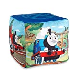 "Mattel Thomas The Tank Engine Fun 12"" Kids Square Ottoman"
