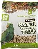 ZuPreem Natural Premium Daily Bird Food for Medium/Large Birds (Parrot) - 3 lbs.