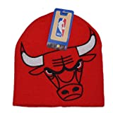 CHICAGO BULLS NBA Oversize HYPE Embroidered Team Logo Knit Beanie Hat Winter Ski Cap by Absolute Accessory