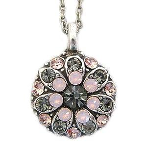 "Mariana Guardian Angel Swarovski Crystal Pendant Necklace, 19"" Pink"