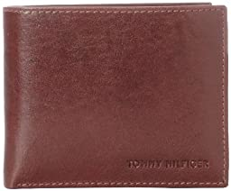 Tommy Hilfiger Men\'s Leather York Passcase Wallet, Tan, One Size