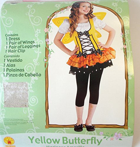 Yellow Butterfly Fairy Child Costume Wings 4-6 NIP