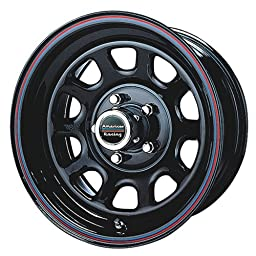 American Racing Custom Wheels AR767 Gloss Black Wheel With Red And Blue Strip (15x7\