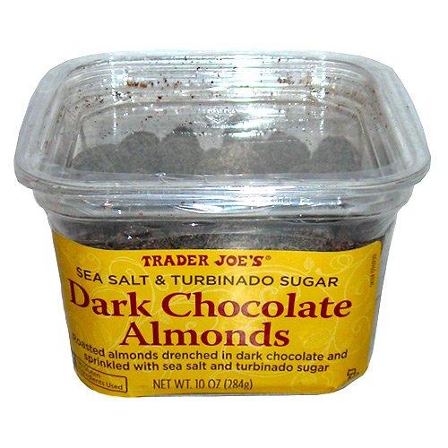 Trader Joe's Sea Salt & Turbinado Sugar Dark Chocolate Almonds