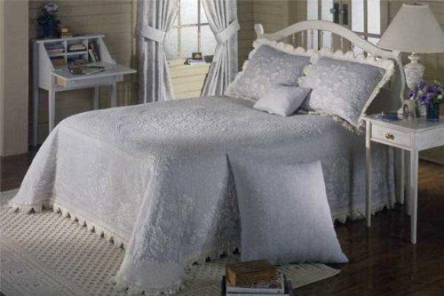 Maine Heritage Weavers 7476-K-015 Abigail Adams Matelasse Bedspread, Sage