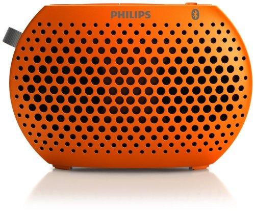 Philips Speaker Portable Wireless Bluetooth - Music Anywhere Orange Sbt10Org