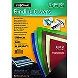 Fellowes Chromolux - Portadas de encuadernación (A4, 250 g/m², 100 unidades), color negro