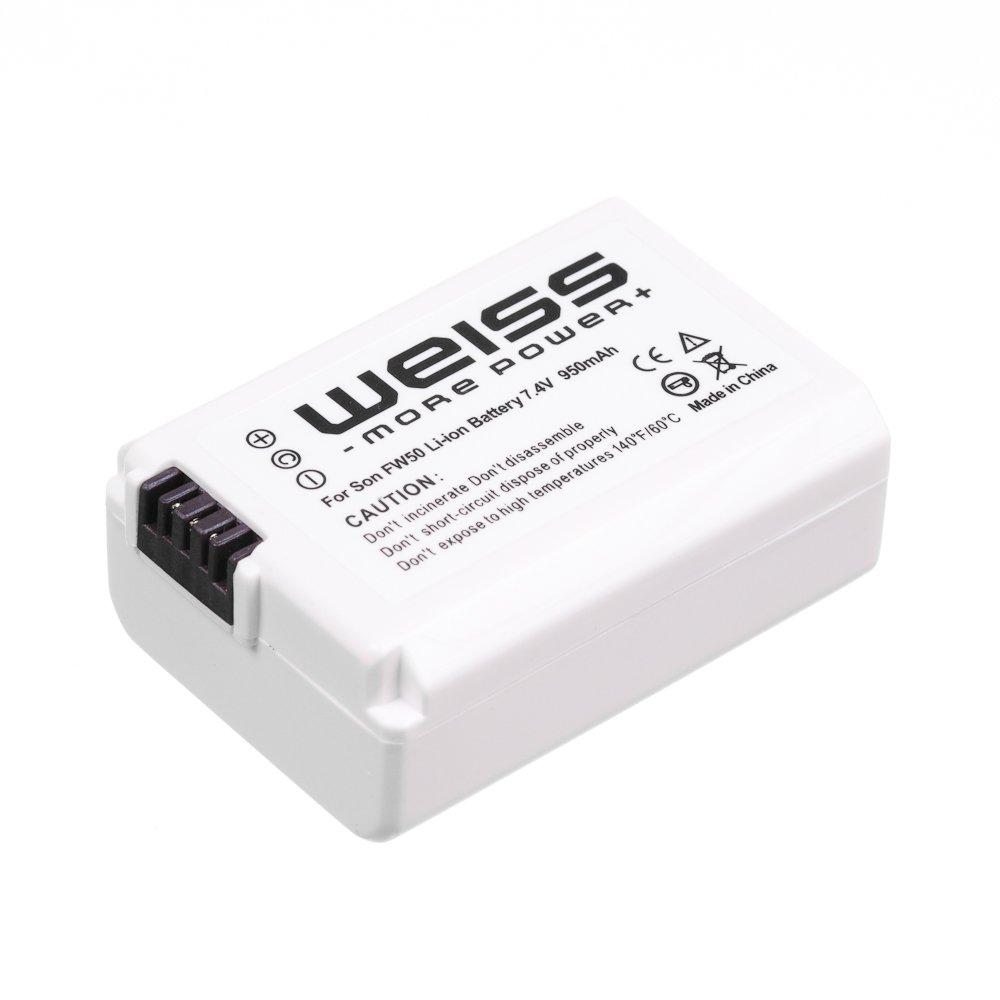 Weiss NP-FW50 - Batería de ion de litio (7, 2 V, 950 mAh) para Sony Alpha Sony A33/A55/NEX-3/NEX-5/NEX-C3 - Electrónica Comentarios y más información