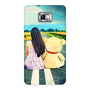 Special Teddy Girl Cute Multicolor Back Case Cover for Galaxy S2