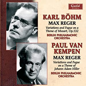 Karl Bohm Paul Van Kempen Conduct Music By Max Reg
