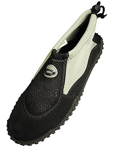 The Wave - Mens Aqua Shoe, Grey, Black 37130-11D(M)US