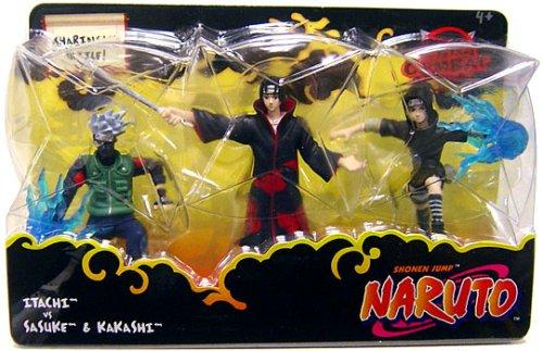 Naruto Mattel 3 Inch Series 2 Mini Figure 3-Pack Itachi vs. Sasuke & Kakashi (Sharingan Battle)