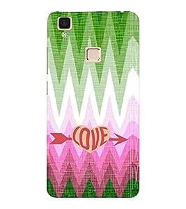 EPICCASE love arrow Mobile Back Case Cover For VIVO V3 (Designer Case)