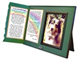 Pet Lover Remembrance Gift, Rainbow Bridge Poem, Memorial Pet Loss Picture Frame Keepsake and Sympathy Gift Package
