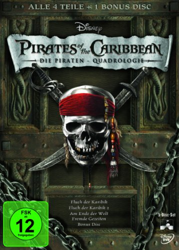 Pirates of the Caribbean - Die Piraten-Quadrologie [5 DVDs]