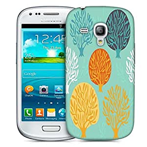 Snoogg Seamless Pattern With Leaf Designer Protective Back Case Cover For Samsung Galaxy S3 Mini
