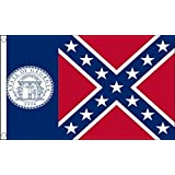 Georgia 1956 to 2001 US State 5'x3' (150cm x 90cm) Flag