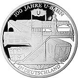 """10 Euro moneda conmemorativa """"100 Jahre Untergrundbahnen in Deutsch"""" (Jäger: 491) Prueba Numismática"""