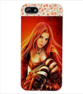 ColourCraft Beautiful Lady Design Back Case Cover for APPLE IPHONE 5