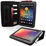 Snugg™ Nexus 10 Executive Case - Smart Cover with Flip Stand & Lifetime Guarantee (Black Leather) for Nexus 10